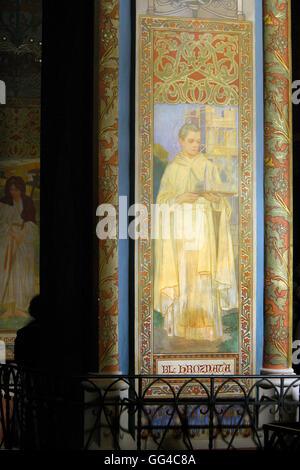 Monastery of tepla west bohemia czech republic stock photo for Art nouveau mural