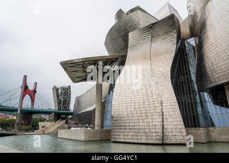 Guggenheim Museum, designed by Frank Gehry, Bilbao, Basque Country, Spain - Stock Photo