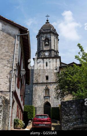 Church, Lesaka village, Navarre, Northern Spain - Stock Photo