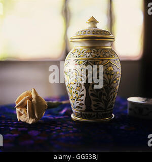 A Chinese urn - Stock Photo