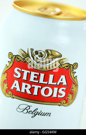 Stella Artois can close up - Stock Photo