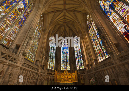 UK, England, Staffordshire, Lichfield, Cathedral, Lady Chapel, the C16th Herkenrode windows - Stock Photo