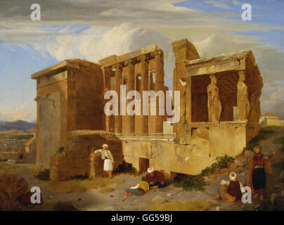 Charles Lock Eastlake - The Erechtheum, Athens, with Figures in the Foreground - Stock Photo