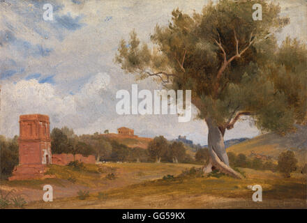 Charles Lock Eastlake - A View at Girgenti in Sicily with the Temple of Concord and Juno - Stock Photo
