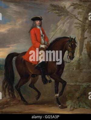 John Wootton - Portrait of a Man on Horseback - Stock Photo