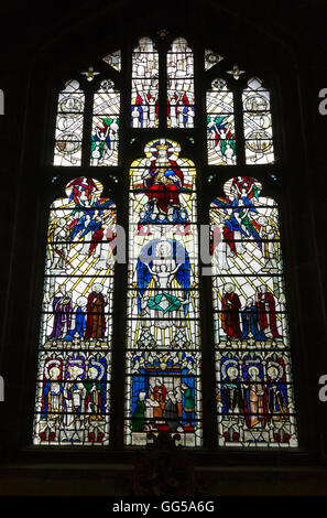 Elgar Memorial Window in Worcester Cathedral, Worcestershire. UK. It was designed by Archibald Nicholson. - Stock Photo