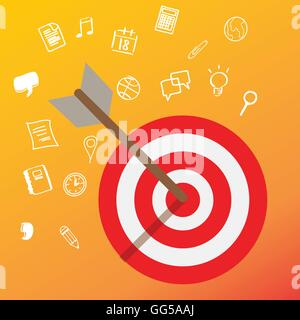targeting customer head mind niche target market marketing concept business - Stock Photo