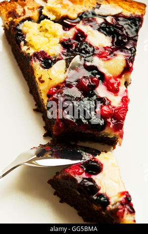 slice of  fruit cake - Stock Photo