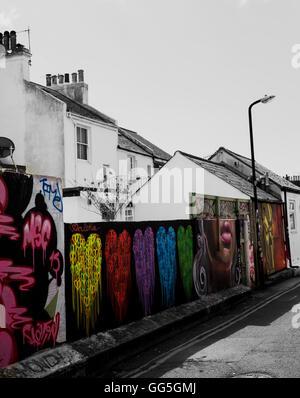 Graffiti artwork in Brighton! Stock Photo