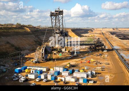 Ignite open-pit mining, Hambach - Stock Photo