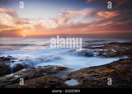 Sunset, western shore of Tenerife in the Canary Islands, Spain, Atlantic, Europe - Stock Photo