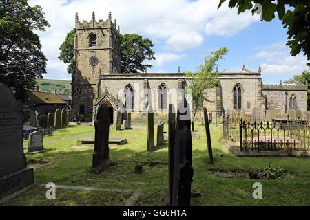 Parish Church of St. Edmund, Castleton, Peak District, Derbyshire, England, UK. - Stock Photo