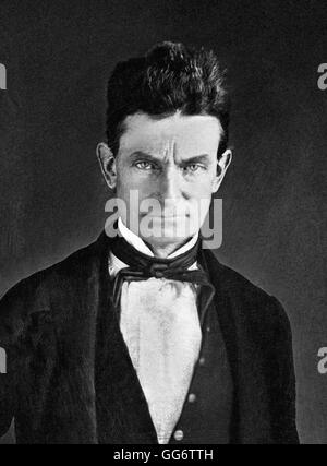 John Brown. Portrait of the American abolitionist, John Brown (1800-1859) by Augustus Washington, c.1846-1847 - Stock Photo