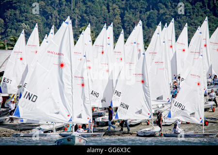 Laser Radial fleet, Day1, 2015 Youth Sailing World Championships, Langkawi, Malaysia