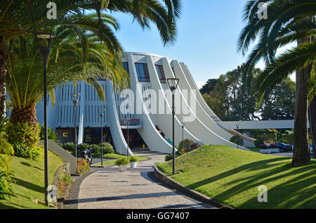 Sweeping pathway leading into the Casino in Funchal, Madeira, Portugal - Stock Photo