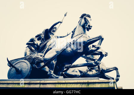 The statue of Boudicca near Westminster bridge London close to Parliament. - Stock Photo