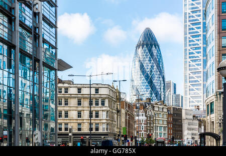 City View of London around Liverpool Street station - Stock Photo
