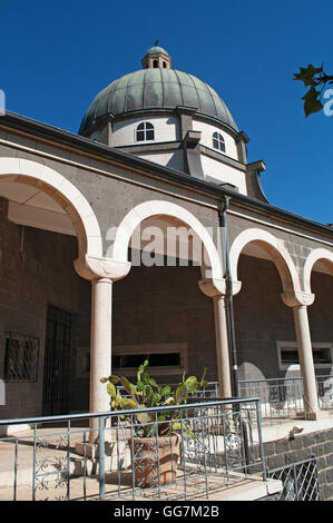 Israel: the Chapel at Mount of the Beatitudes, a Roman Catholic church built where Jesus is believed to have delivered - Stock Photo