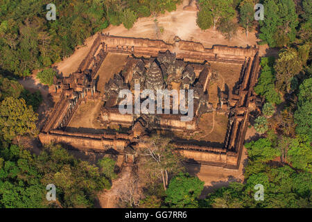 One of the amazing temples inflight, Siem reap, Cambodia. - Stock Photo