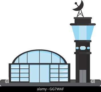 isolated airport icon - Stock Photo