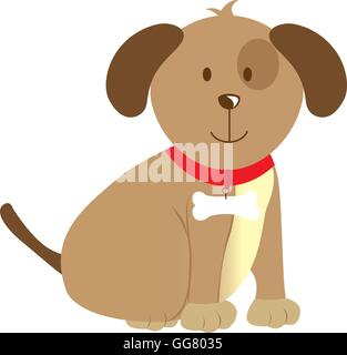 cute dog pet isolated icon - Stock Photo