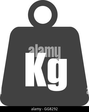 metal weight kilogram heavy icon. Vector graphic - Stock Photo