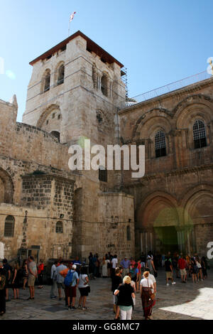 Jerusalem, Israel. 22nd July, 2016. The exterior of the Church of the Holy Sepulchre in Jerusalem, Israel, 22 July - Stock Photo