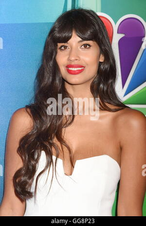 Beverly Hills, California. 2nd Aug, 2016. BEVERLY HILLS, CA - AUGUST 02: Actress Jameela Jamil attends the NBCUniversal - Stock Photo