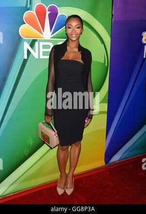 Beverly Hills, California. 2nd Aug, 2016. BEVERLY HILLS, CA - AUGUST 02: Actress Yaya DaCosta attends the NBCUniversal - Stock Photo