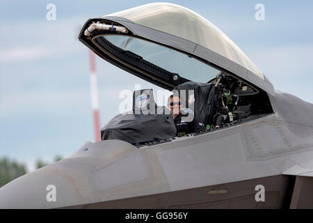 Lockheed Martin F-22A Raptor USAF FF AF 09181 at the Royal International air Tattoo 2016 - Stock Photo