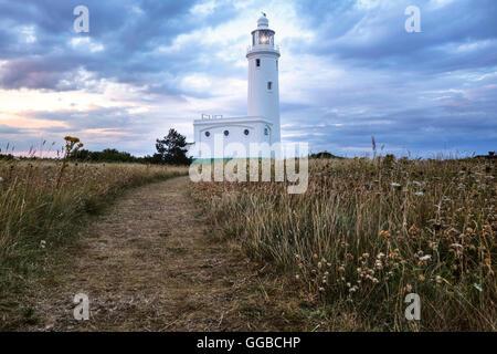 Hurst Point Lighthouse, Solent, Hampshire, England, UK - Stock Photo