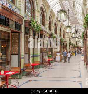 The Royal Arcade in Norwich , Norfolk , England , Britain , Uk - Stock Photo