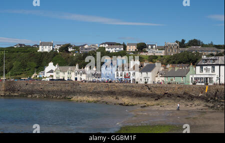 Portpatrick on the Dumfries and Galloway coast in Scotland - Stock Photo