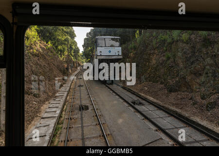 The funicular Larreineta, in the Valley of Trapaga, Trapagaran, Bilbao, Basque Country, Spain. - Stock Photo