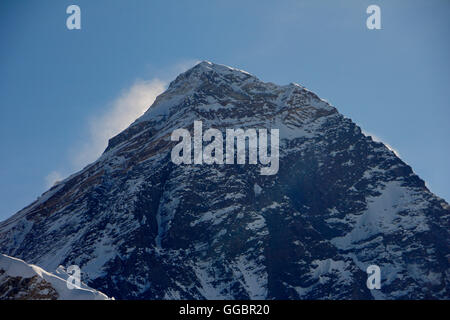 View of Everest Peak, from Kala Patthar view point - Stock Photo