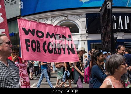 Women for Corbyn, No More Austerity - No To Racism - Tories Must Go, demonstration organised by Peoples Assembly, - Stock Photo