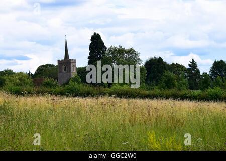 Landscape scene of St James's Church, Bishop's Stortford - Stock Photo