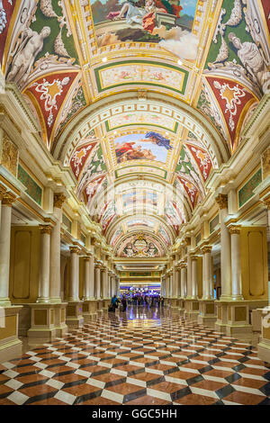The Venetian, Las Vegas - January 13, 2016: The Venetian opened in 1999. - Stock Photo