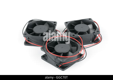 Computer fan isolated on white background - Stock Photo