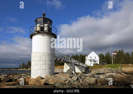 geography / travel, USA, Maine, Harbour Clyde, Marshall Point Light (1832), Harbour Clyde, Penobscot Bay, Additional - Stock Photo