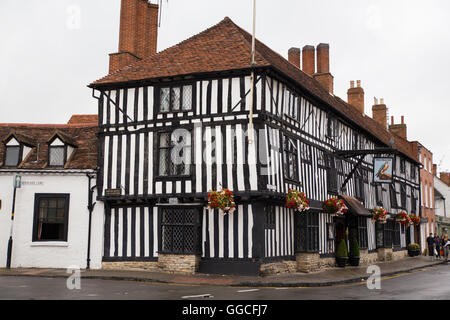 Timber-Framed buildings in Stratford Upon Avon. - Stock Photo