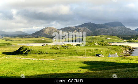 Baile-na-Cille on the Isle of Lewis, Outer Hebrides, Scotland - Stock Photo