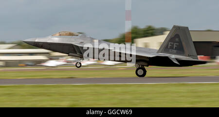 Lockheed Martin F-22A Raptor USAF FF AF 09181 at Royal International air Tattoo 2016 - Stock Photo
