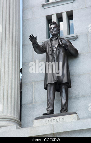 The Pennsylvania State Memorial at the Gettysburg Battlefield National Park, Gettysburg, Pennsylvania, USA - Stock Photo