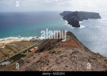 geography / travel, PORTUGAL, Madeira, Porto Santo, Ponta da Calheta: Coast, island Ilheu de Baixo ou da Cal, Additional - Stock Photo