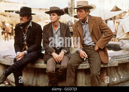 ZWEI BANDITEN / Butch Cassidy and the Sundance Kid USA 1968 / George Roy Hill ROBERT REDFORD als The Sundance Kid, - Stock Photo