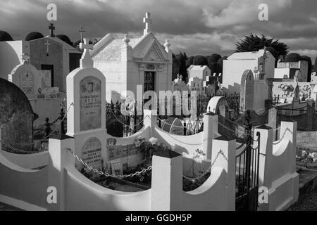 South America, Patagonia, Chile, Magallanes y la Antártica, Punta Arenas, cemetery - Stock Photo