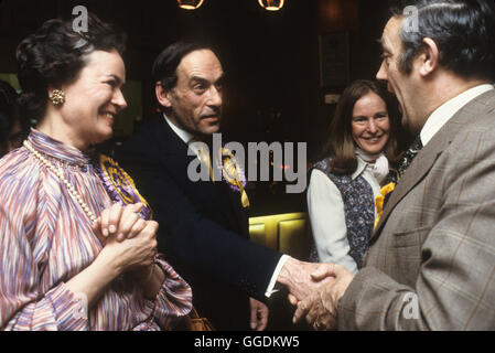 Jeremy Thorpe MP and wife Marion Thorpe  1979 Devon UK HOMER SYKES - Stock Photo