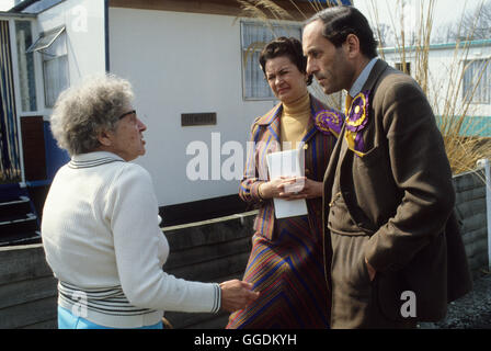 Jeremy Thorpe MP with constituent and wife Marion 1979 Devon UK HOMER SYKES - Stock Photo