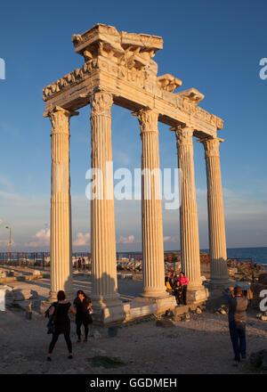 Apollo Temple in Side,Antalya,Turkey - Stock Photo